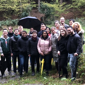 The brave particpants withstood the rain and went to explore the picturesqe Odenwald around Gras-Ellenbach